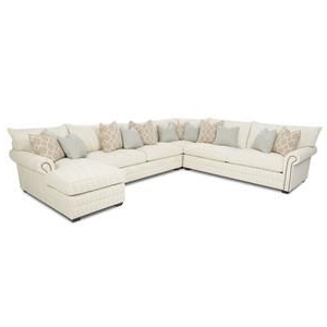 Best And Newest 2pc Polyfiber Sectional Sofas With Nailhead Trims Gray Pertaining To Huntley Traditional Sectional Sofa With Nailhead Trim And (View 8 of 10)