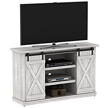 """Best And Newest Amazon: Bluestone 54"""" Tv Stand, Tv Unit Furniture With Martin Svensson Home Barn Door Tv Stands In Multiple Finishes (View 5 of 10)"""