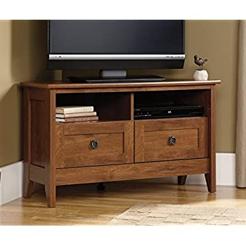 """Best And Newest Amazon: Corner Entertainment Center – Antique White In 60"""" Corner Tv Stands Washed Oak (View 10 of 10)"""