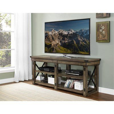 """Best And Newest Ameriwood Home Rhea Tv Stands For Tvs Up To 70"""" In Black Oak For Laurel Foundry Modern Farmhouse Gladstone Tv Stand For Tvs (View 5 of 10)"""