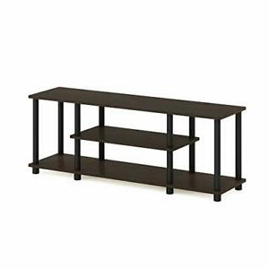 Best And Newest Furinno Turn N Tube No Tool 3 Tier Entertainment Tv Stands Within Furinno Turn N Tube 3 Tier Entertainment Tv Stands Dark (View 7 of 10)