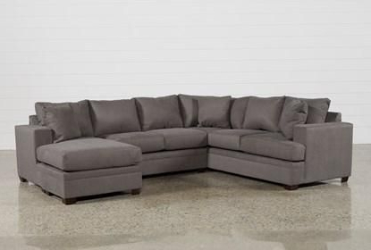 """Best And Newest Kerri Charcoal 2 Piece 126"""" Sectional With Right Arm Pertaining To Kiefer Right Facing Sectional Sofas (View 8 of 10)"""