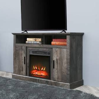 """Best And Newest Neilsen Tv Stands For Tvs Up To 50"""" With Fireplace Included Within Lorraine Tv Stand For Tvs Up To 55"""" With Electric (View 9 of 10)"""