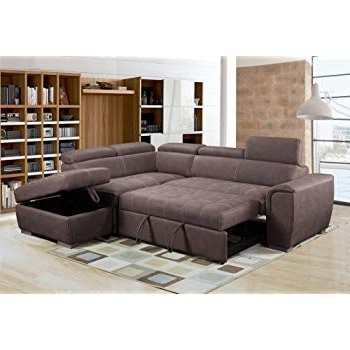 """Best And Newest Prato Storage Sectional Futon Sofas For Bmf """"galaxy B Grey Modern Corner Sofa Bed Storage Faux (View 2 of 10)"""
