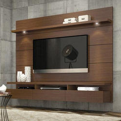 Best And Newest Rfiver Modern Black Floor Tv Stands Intended For Tv Stand & Cabinets In Mohali, टीवी स्टैंड और अलमारी (View 10 of 10)
