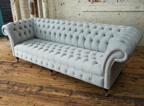 Best And Newest Strummer Velvet Sectional Sofas Within Geneva Chesterfield Sofa – 4 Seater – House Silver Velvet (View 7 of 10)