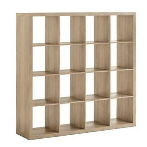 Better Homes & Gardens Herringbone Tv Stands With Multiple Finishes With Regard To 2017 Homes & Gardens 16 Cube Square Storage Organizer, Rustic (View 7 of 10)