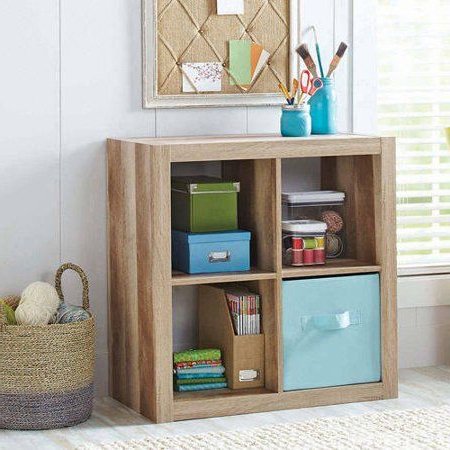 Better Homes & Gardens Square 4 Cube Organizer, Espresso With Regard To Recent Mainstays 4 Cube Tv Stands In Multiple Finishes (View 9 of 10)