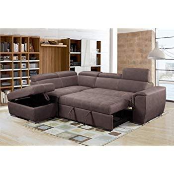 "Bmf ""galaxy B Grey Modern Corner Sofa Bed Storage Faux For Newest Hartford Storage Sectional Futon Sofas (View 4 of 10)"