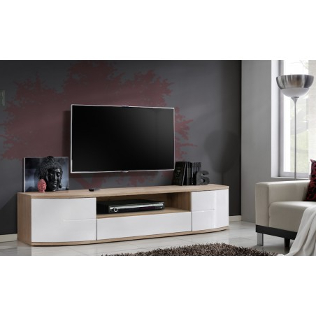 Bmf Ontario Ii Tv Stand 190cm Wide Push Click High Gloss Inside 2018 Bromley Black Wide Tv Stands (View 7 of 10)