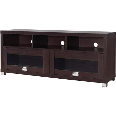 """Brigner Tv Stands For Tvs Up To 65"""" Regarding Famous Durbin Espresso Tv Stand, For Tvs Up To 65"""" – Buy Online (View 5 of 10)"""