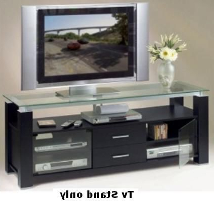 Bromley Black Wide Tv Stands Within Latest Elite El 996 Wide Tv Stand And Audio Rack In Sleek Black (View 2 of 10)