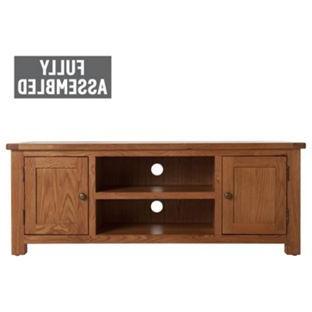 Buy Argos Home Kent Large Solid Oak & Oak Veneer Tv Bench Inside Well Known Dillon Tv Stands Oak (View 5 of 10)