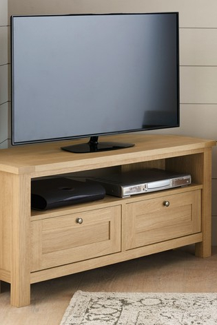 Buy Malvern Corner Tv Stand From The Next Uk Online Shop Throughout Most Recently Released Fulton Oak Effect Wide Tv Stands (View 7 of 10)