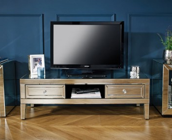 Buy Tv Cabinets And Units Online – Frances Hunt With Regard To Preferred Tv Stands With 2 Open Shelves 2 Drawers High Gloss Tv Unis (View 7 of 10)