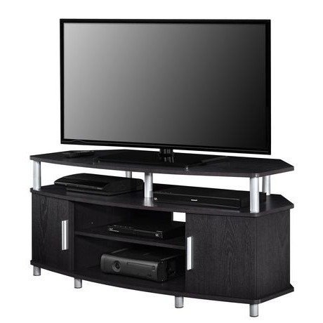 """Carson Corner Tv Stand For Tvs Up To 50"""", Black/cherry In Well Known Corner Tv Stands For Tvs Up To 60"""" (View 10 of 10)"""