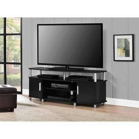 """Carson Tv Stand For Tvs Up To 50"""", Weathered Oak (View 5 of 10)"""