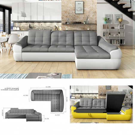 Celine Sectional Futon Sofas With Storage Reclining Couch With Regard To Well Known Bmf 'infinity Mini' Modern Corner Sofa Bed Storage Faux (View 4 of 10)
