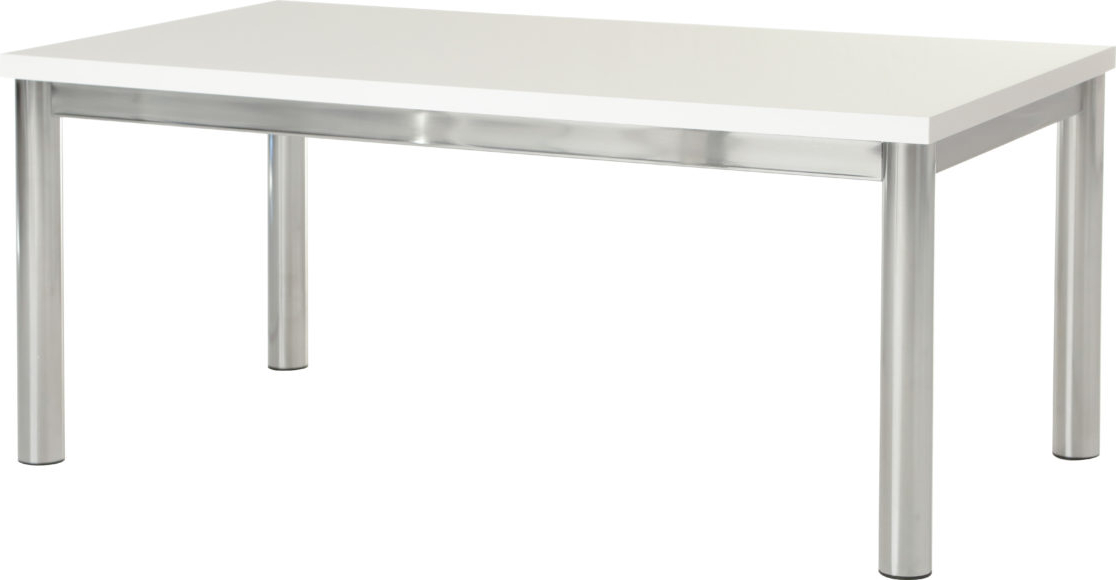 Charisma Coffee Table – White Gloss/chrome In Most Popular Charisma Tv Stands (View 1 of 10)