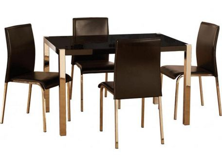Charisma Tv Stands With Regard To Newest Seconique – Charisma Black Gloss & Chrome Dining Set With (View 8 of 10)