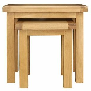 Classic Cotswold Oak Nest Of 2 Tables Home Furniture With Regard To Recent Cambourne Tv Stands (View 5 of 10)