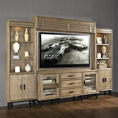 Clermont Solid Wood Entertainment Center For Tvs Up To 70 Pertaining To 2018 Entertainment Center Tv Stands Reclaimed Barnwood (View 5 of 10)