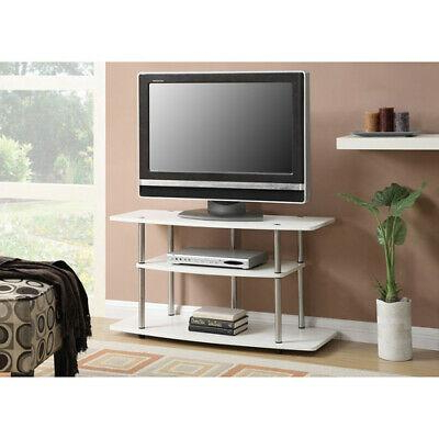 Convenience Concepts Designs2go 3 Tier Wide Tv Stand, White Pertaining To Recent Oliver Wide Tv Stands (View 10 of 10)