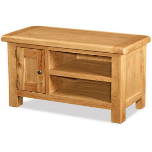 Copen Wide Tv Stands Throughout Most Recently Released Oakvale Small Media Stand / Solid Wood Living Room  (View 10 of 10)