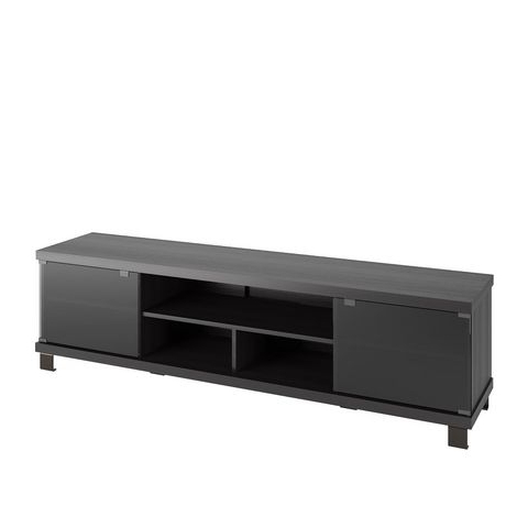 Corliving Holland Extra Wide Tv Bench In Ravenwood Black Inside Most Popular Carbon Wide Tv Stands (View 10 of 10)