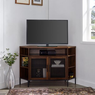 Corner Entertainment Tv Stands Pertaining To Best And Newest 55 Inch Tv Corner Tv Stands & Entertainment Centers You'll (View 2 of 10)