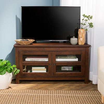 """Corner Intended For Most Recently Released Corner Tv Stands For Tvs Up To 48"""" Mahogany (View 7 of 10)"""