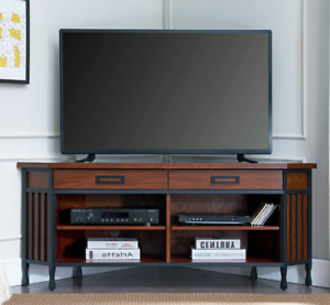 Corner Tv Stand Entertainment Center Console 60 Inch Steel Regarding 2017 Corner Entertainment Tv Stands (View 7 of 10)