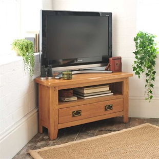 Corner Tv Stands & Tv Units – Stunning Oak, Pine & Painted Regarding Best And Newest Cotswold Cream Tv Stands (View 1 of 10)