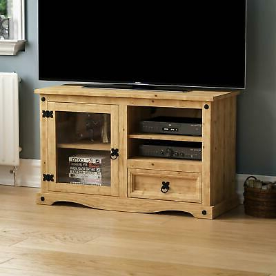 Corona Entertainment Unit Mexican Solid Waxed Pine Tv With Newest Chromium Extra Wide Tv Unit Stands (View 2 of 10)