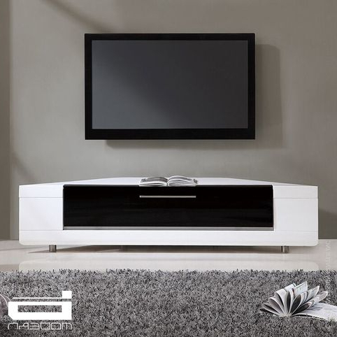Corona White Corner Tv Unit Stands Pertaining To Best And Newest Editor Remix Corner Tv Stand In Whiteb Modern (View 7 of 10)