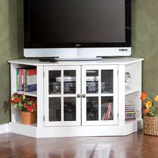 Corona White Corner Tv Unit Stands Pertaining To Well Known White Corner Media Tv Stand Entertainment Center (View 9 of 10)