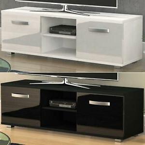 Cosmo Tv Stand Cabinet Unit 2 Door Modern Gloss Matte Mdf With Regard To Preferred Modern 2 Glass Door Corner Tv Stands (View 10 of 10)