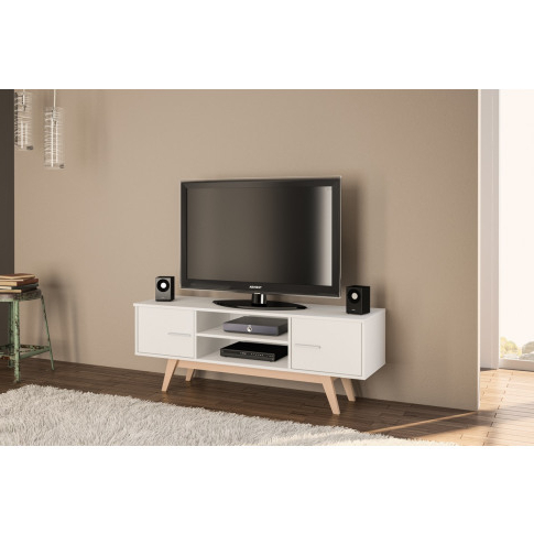 Cotswold Cream Tv Stands With Fashionable Hone (View 5 of 10)