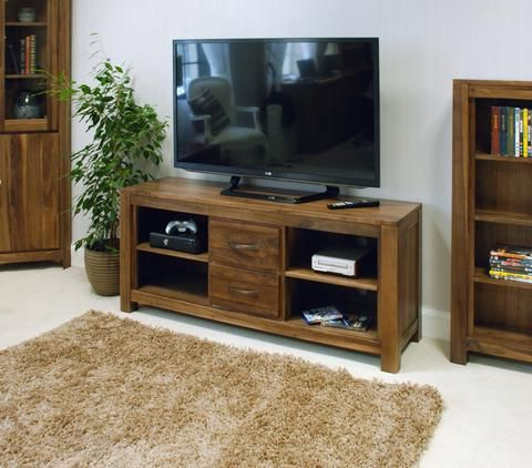 Cotswold Widescreen Tv Unit Stands Intended For Favorite Mayan Walnut Widescreen Television Cabinet (View 4 of 10)