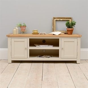 Cotswold Widescreen Tv Unit Stands Within Current Solid Wood Oak, Pine & Painted Tv Stands & Tv Units – The (View 2 of 10)