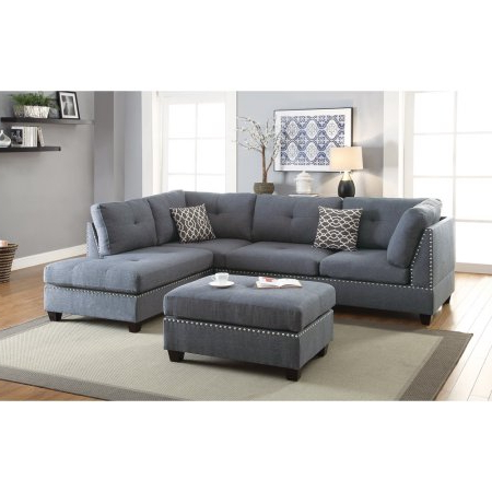 Couch With Ottoman, Grey Sectional, Sectional Sofa (View 1 of 10)