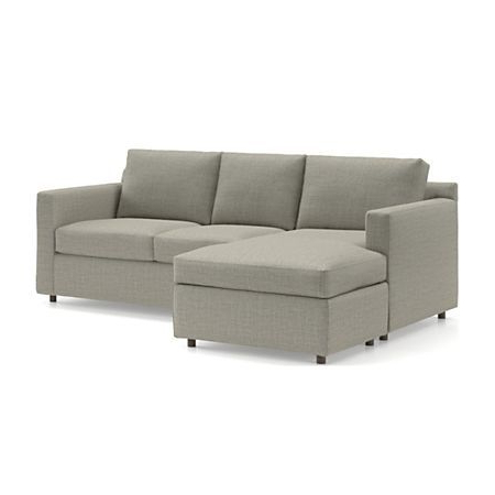Crate And Barrel With Regard To Palisades Reversible Small Space Sectional Sofas With Storage (View 3 of 10)