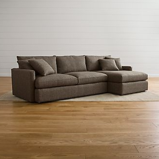 Crate And Barrel Within Somerset Velvet Mid Century Modern Right Sectional Sofas (View 8 of 10)