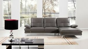Current 2pc Crowningshield Contemporary Chaise Sofas Light Gray Intended For 2pc Modern Gray Italian Top Grain Leather Sofa Chaise (View 10 of 10)