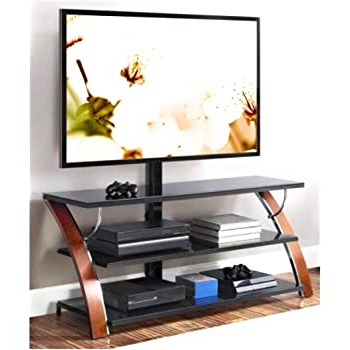 Current Amazon: Whalen Xavier 3 In 1 Tv Stand For Tvs Up To 70 Intended For Whalen Xavier 3 In 1 Tv Stands With 3 Display Options For Flat Screens, Black With Silver Accents (View 10 of 10)
