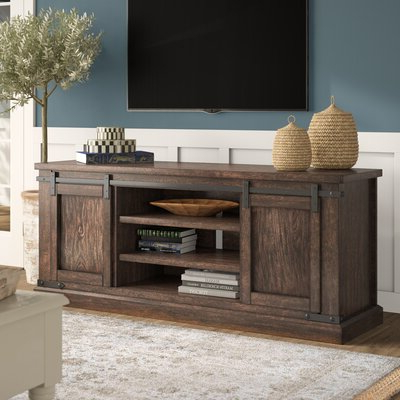 """Current Birch Lane Lam Solid Wood Tv Stand For Tvs Up To 78 Inches Pertaining To Grandstaff Tv Stands For Tvs Up To 78"""" (View 3 of 10)"""