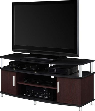 """Current Carson Tv Stand For Tvs Up To 50"""", Cherry (View 2 of 10)"""
