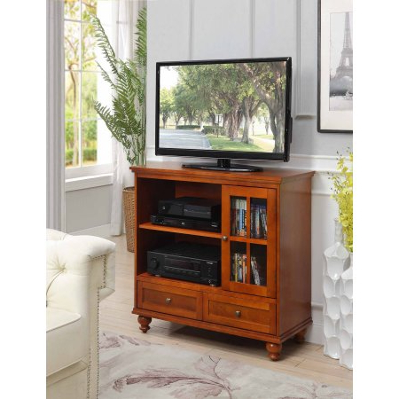 Current Convenience Concepts Designs2go Tahoe Highboy Tv Stand With Regard To Bromley Grey Tv Stands (View 2 of 10)
