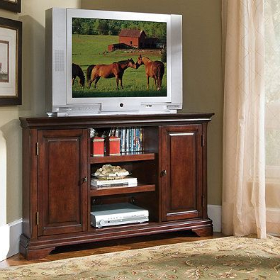 Current Corner Entertainment Tv Stands With Home Styles Lafayette Corner Tv Console (with Images (View 5 of 10)