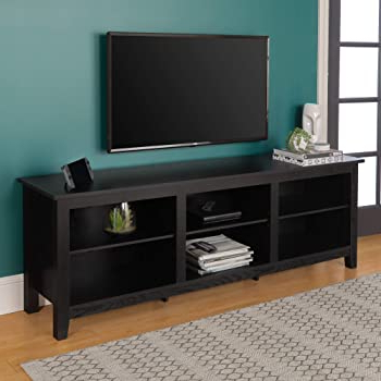 Current Corona Grey Flat Screen Tv Unit Stands Throughout Amazon – Walker Edison Mid Century Modern Wood (View 2 of 10)